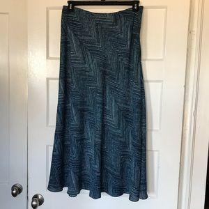 East 5th Blue, Black, White Long Skirt Size 12